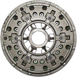 Single plate clutch with cast housing