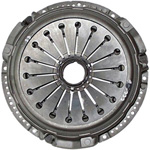 Single plate clutch with sheet metal housing
