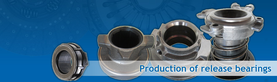 Releasers and release bearings for trucks, utility vehicles, buses, veteran and vintage cars plus other clutch types