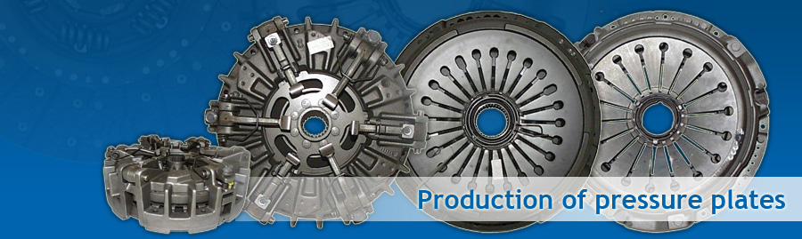 Production of pressure plates for clutches