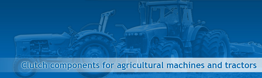 Clutches and clutch components for agricultural machines and plant