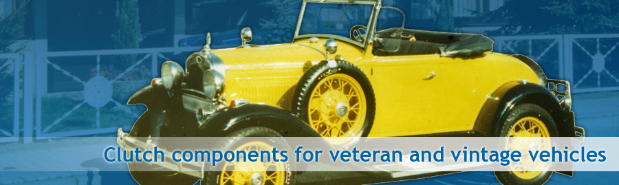 Clutches and clutch components for vintage and veteran vehicles